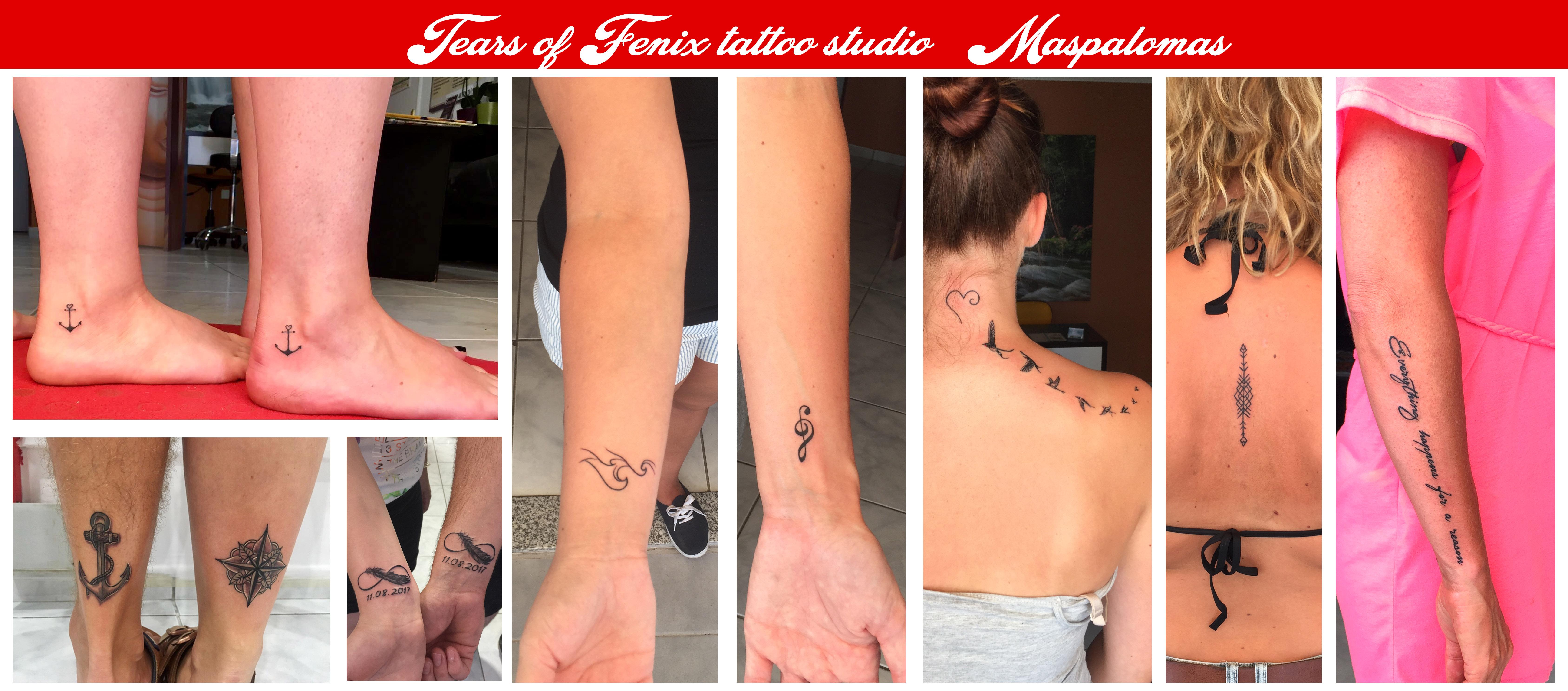 mini small tattoos birds maspalomas
