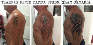 tribal cover-up tattoo