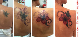 COVER UP Tattoo maspalomas hibiscus