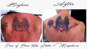 Cover up - remade tattoo - Maspalomas