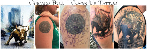 chicago bull cover-up tattoo