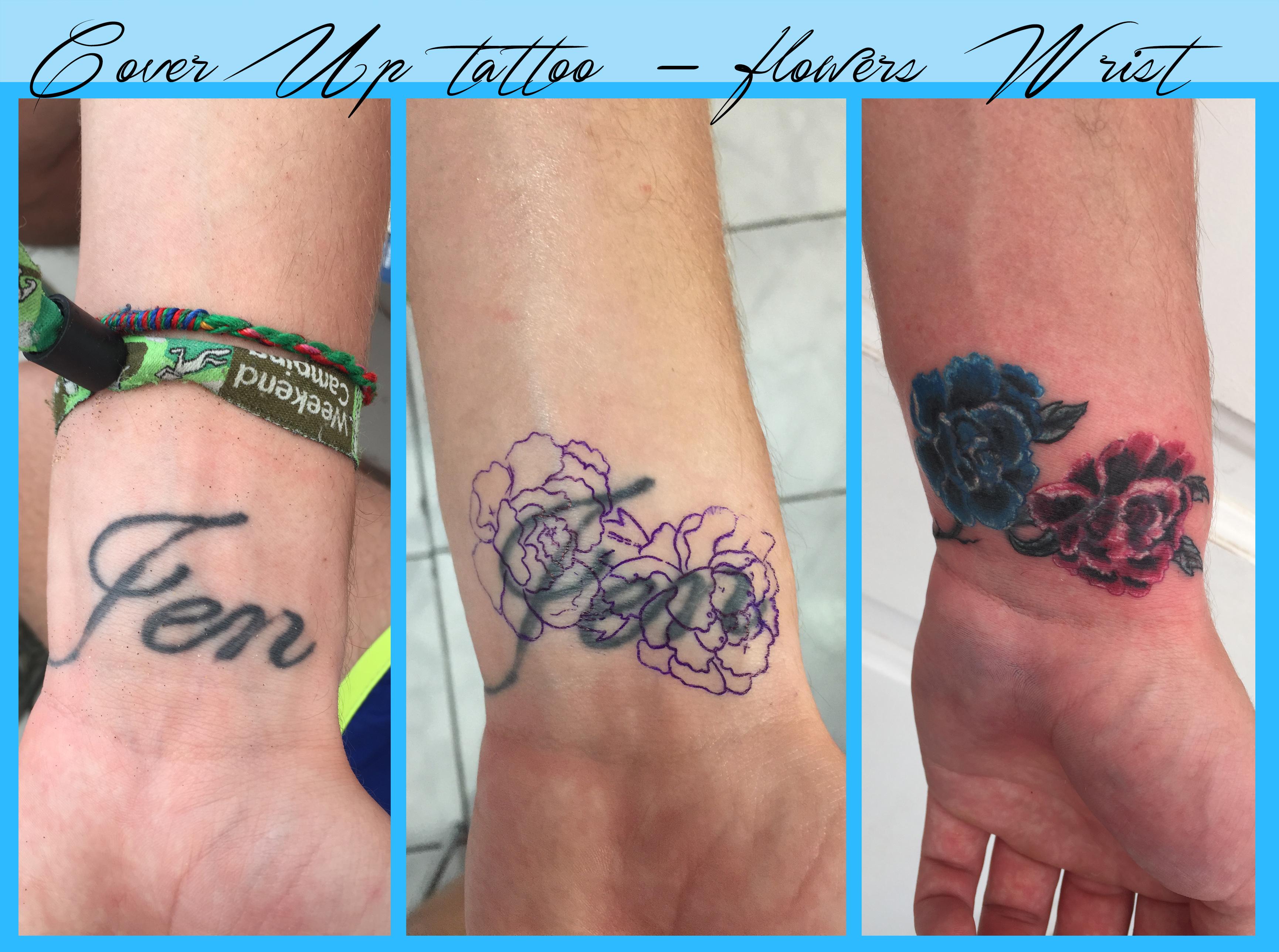 Cover Ups Tatouage Maspalomas Tears Of Fenix Tattoo Studio Maspalomas