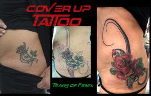 rose tatoo cover up maspalomas